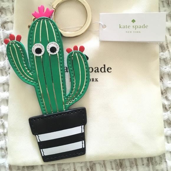 kate spade Handbags - Kate Spade Cactus Keychain Fob